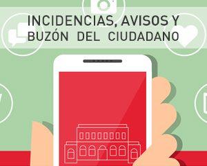 incidencias, avisos y buzón del ciudadano