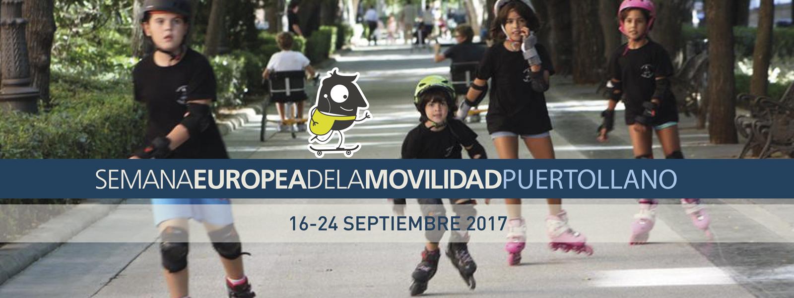 grupo de niños patinando frontal Semana Europea de la Movilidad 2017