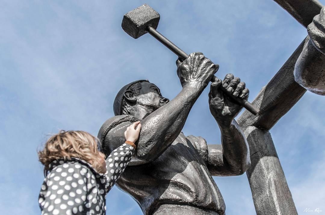 Estatua de un minero de Puertollano