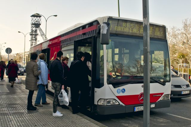 Transporte Urbano. Fotografia de Alejandro Castellanos