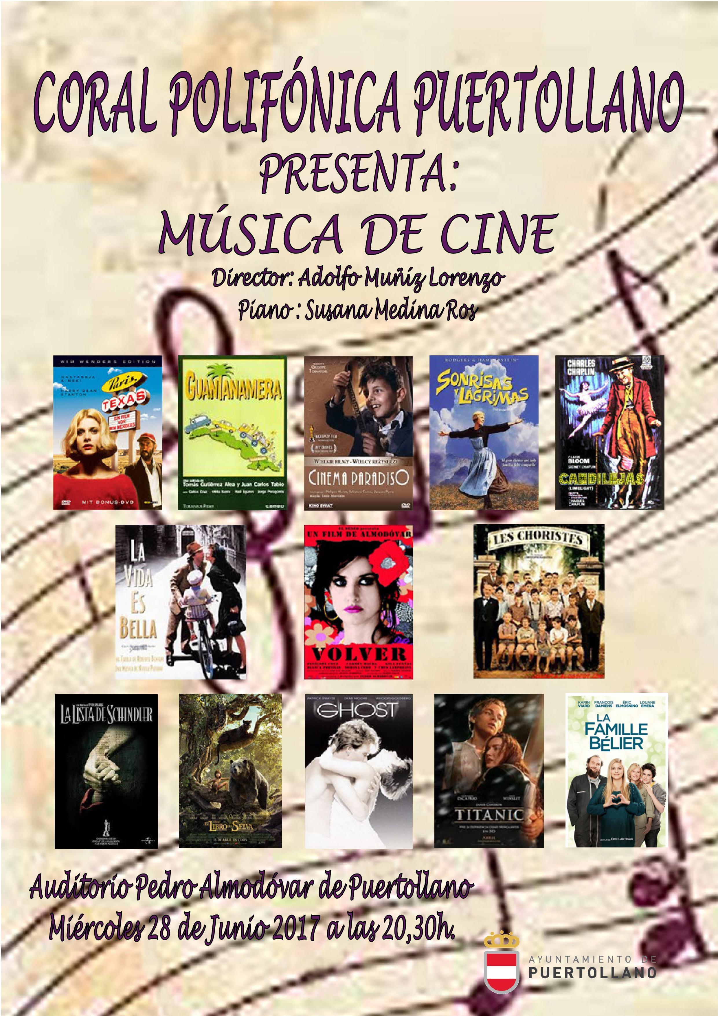 Cartel de Concierto de Verano Música de Cine