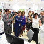 Visita al CNH del presidente Page, la alcaldesa de Puertollano y el presiente de la Diputación