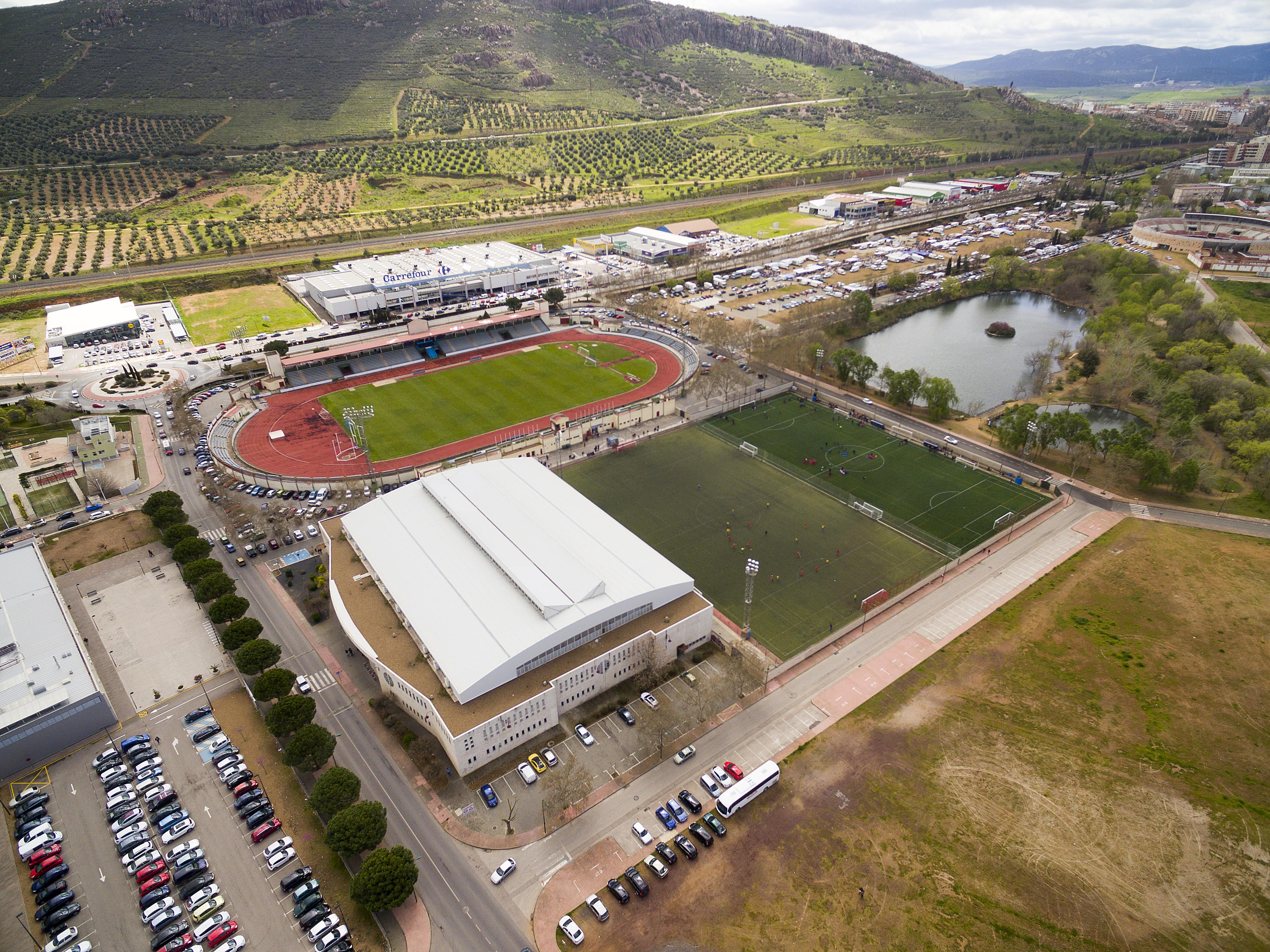 Imagen aérea de las instalaciones deportivas de la ciudad
