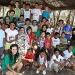Imagen pasada de participantes del programa vacaciones en paz en la Dehesa Boyal