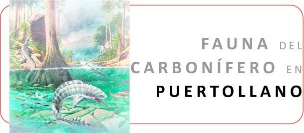 Cartel Exposición La Fauna Carbonífera en Puertollano
