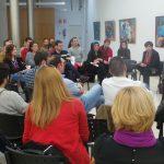 Reunión de la alcaldesa con colectivos en una imagen de archivo