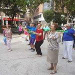 Sesión de ejercicios para nuestros mayores