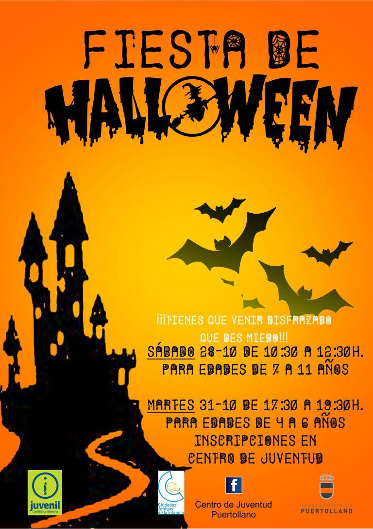 horrorosa fiesta de halloween - ayuntamiento de puertollano