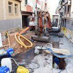 Renovación de la red de agua en la calle San Gregorio
