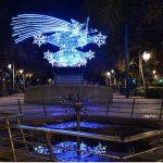 luces de navidad en el paseo san gregorio reloj