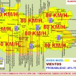 Previsión de viento de 80 kilómetros