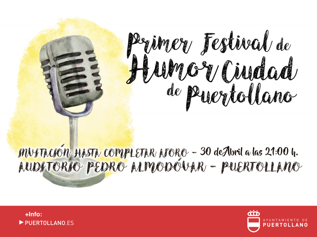 Cartel I Festival del Humor 'Ciudad de Puertollano'