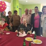 La alcaldesa en el 105 cumpleaños de Juana Fernández