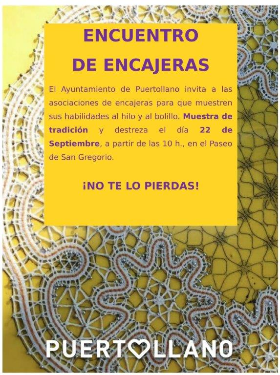 Cartel Encuentro de Encajeras 2018