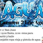 Fiesta del agua en Las Mercedes y El Carmen