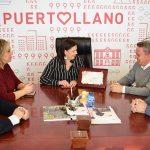Recepción de la alcaldesa a Julián Maldonado