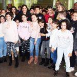 Mayte en el Belén del Colegio Miguel de Unamuno
