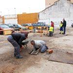 Obras de drenaje en la calle Cañas