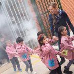 Evacuación en el colegio Giner de los Rios