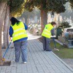 Refuerzo de limpieza en cementerio