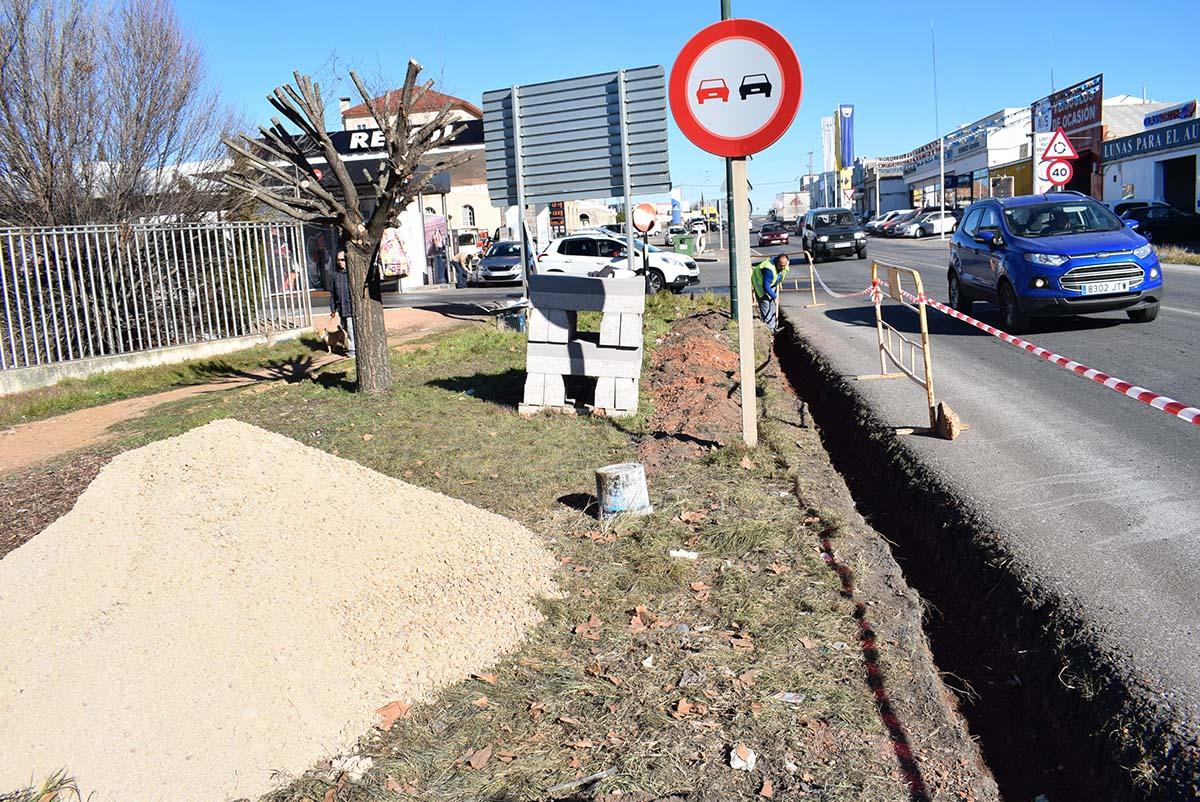 Iniciada la urbanización del entorno de la N 420