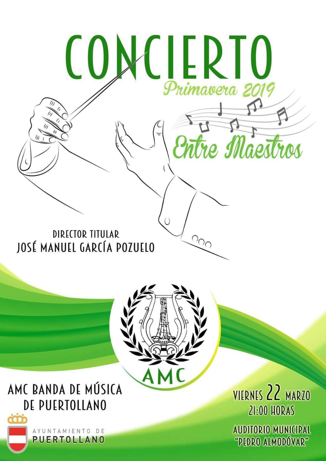 Cartel Concierto AMC Banda de Música de Puertollano