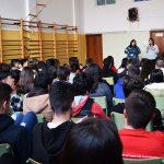 Encuentro de la alcaldesa con alumnos del Santa Bárbara